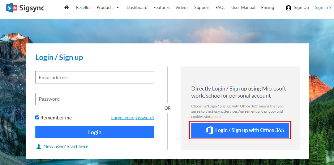 login-signup-with-office-365