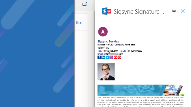 Sigsync Signature Preview Outlook Add-in Single User Installation